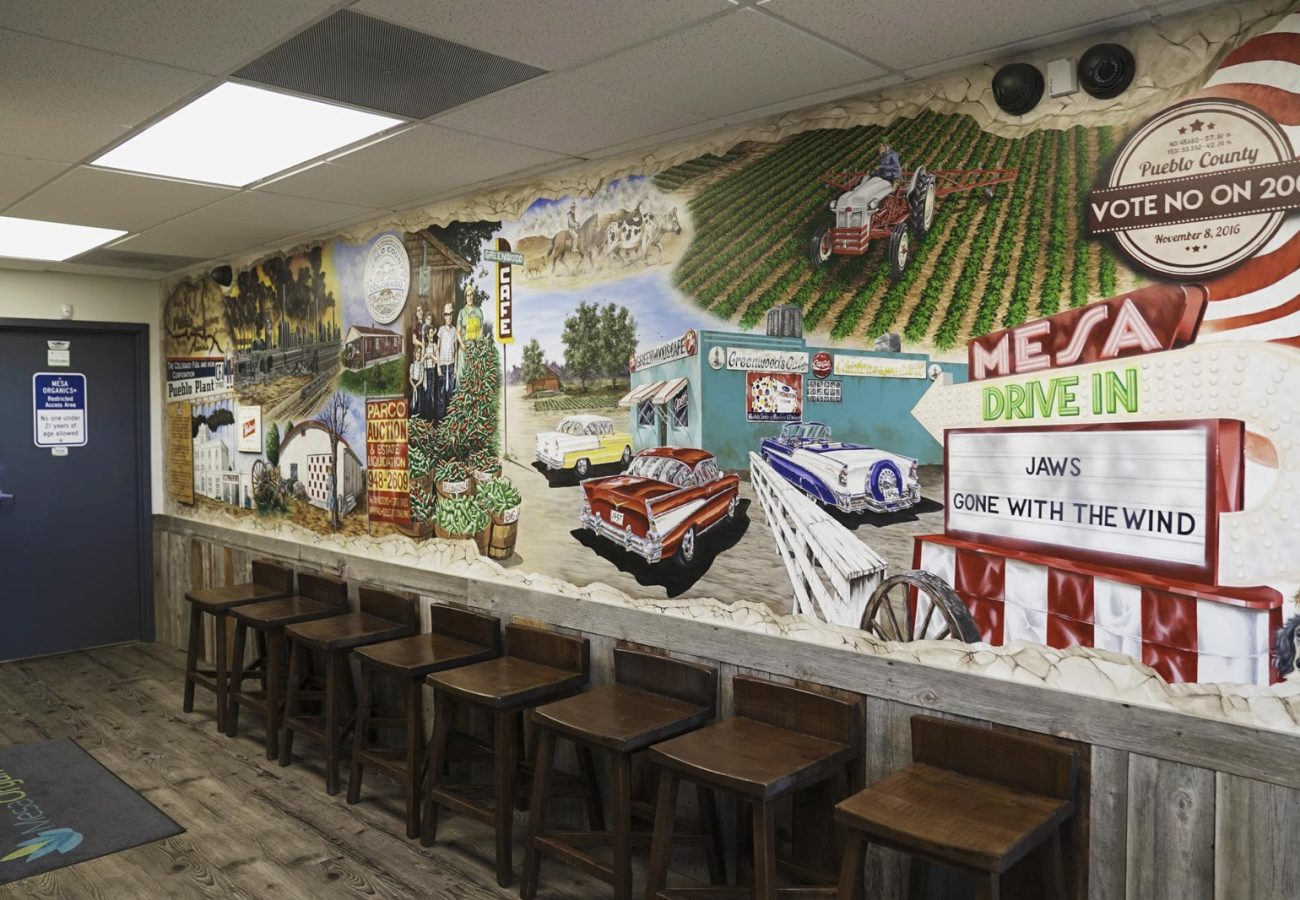 The mural from the old diner.