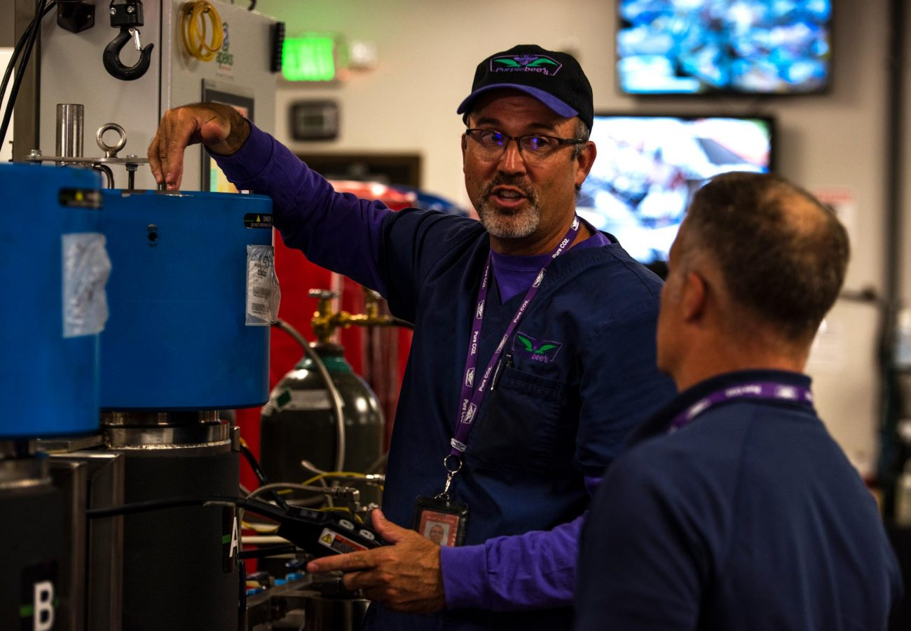 Jim discusses extraction at one of his five Apeks systems.